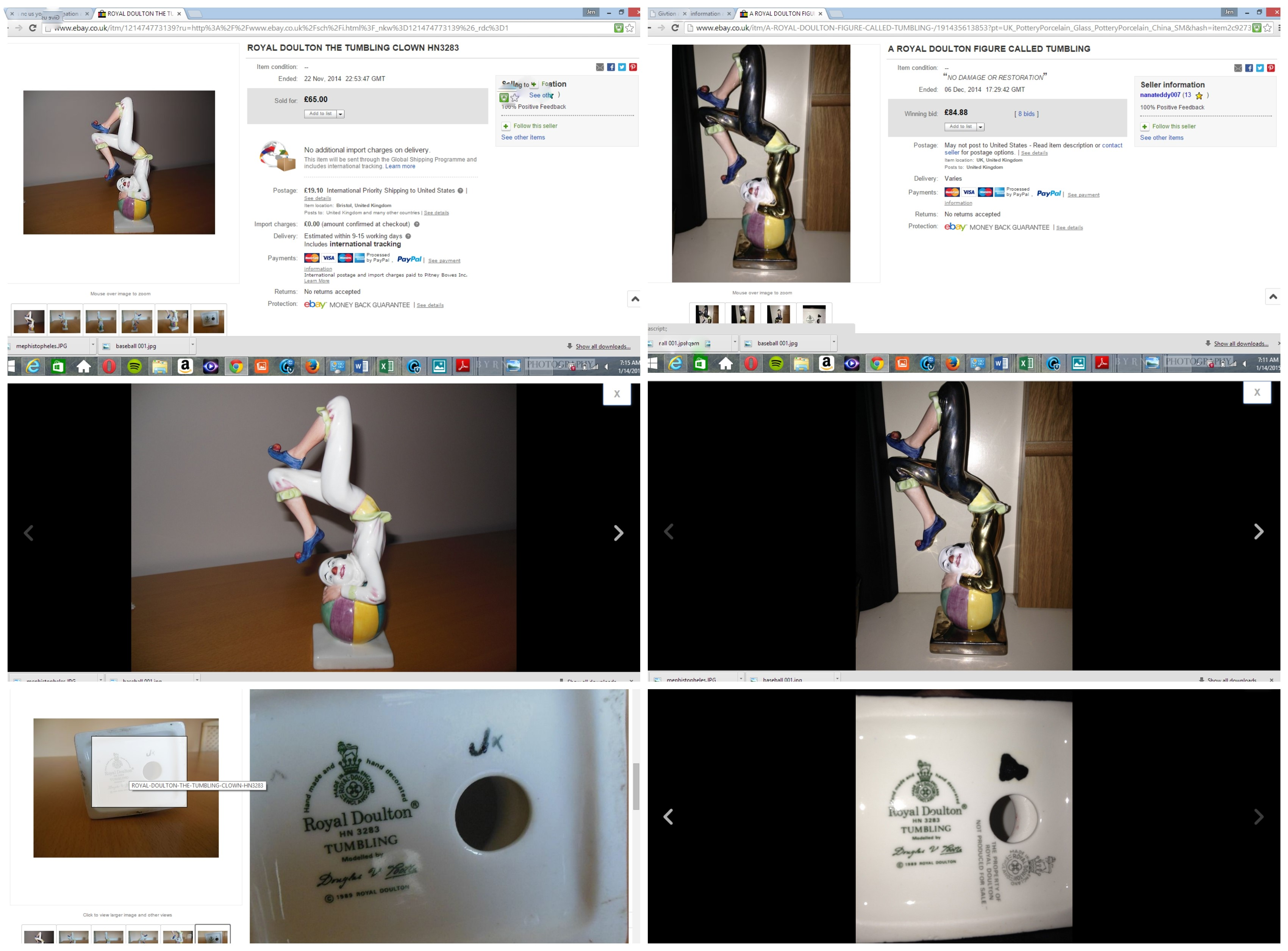 Fakes Sold On eBay-With Pictures | Stop Royal Doulton Fakes